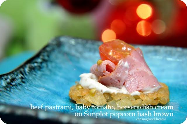 CHASING FOOD DREAMS: Simplot Popcorn Hash Brown: Express Canapes for ...