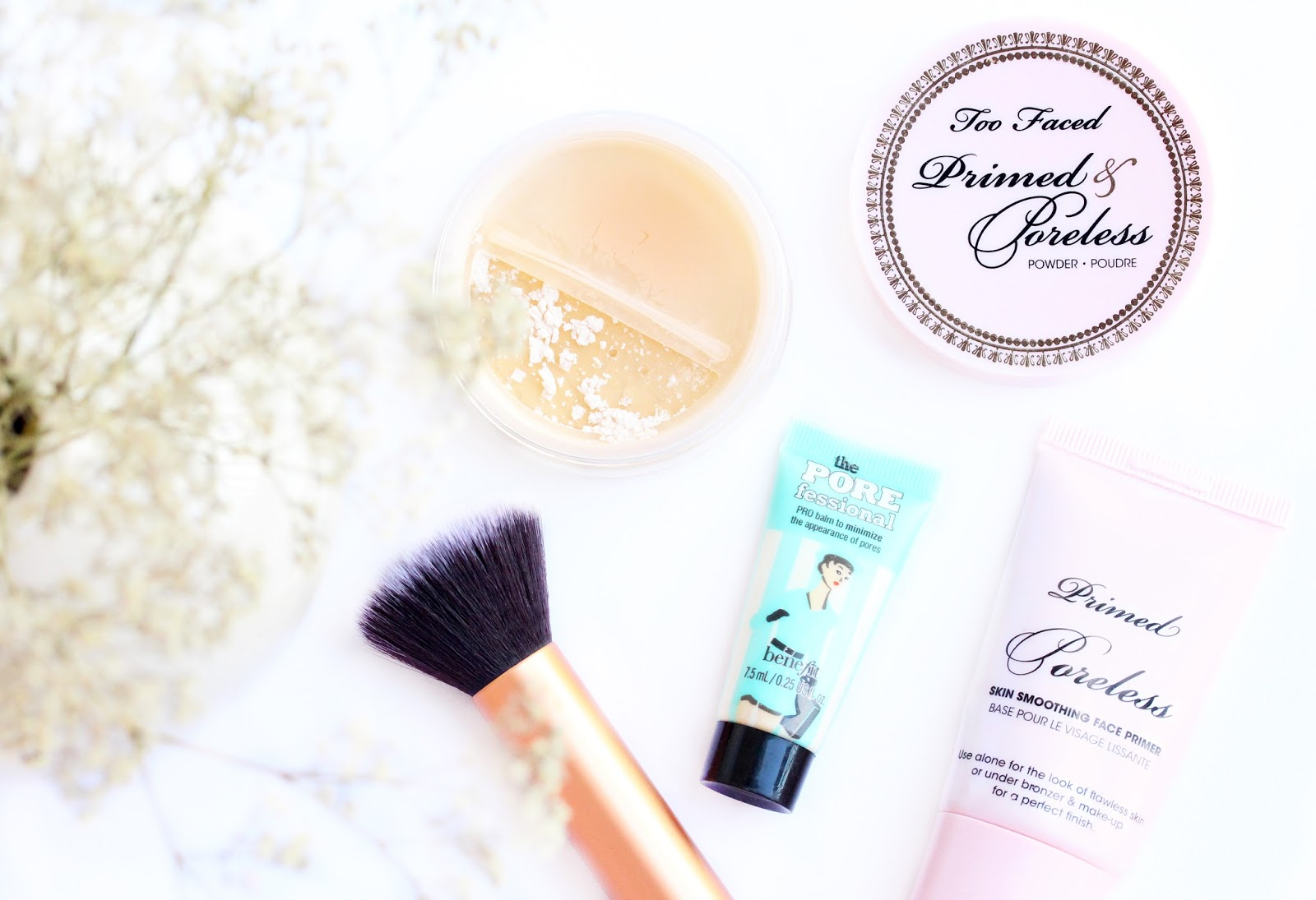 how to minimize pores, too faced primed and pore less, benefit the porefessional,