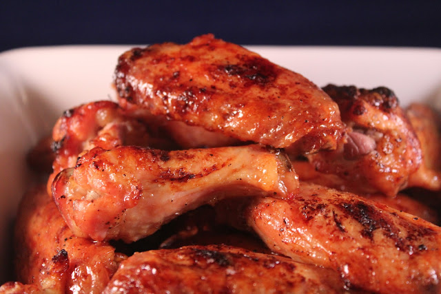 Ginger-soy-glazed wings