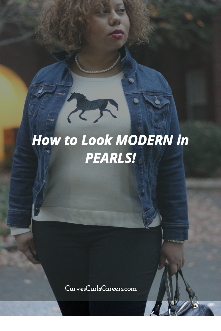 How to Look Modern in Pearls! | Dressy Casual | Curvy Outfit Ideas | Petite Outfit Ideas | Plus Size Fashion | Fall Fashion | OOTD | Professional Casual Chic Fashion and Style Inspiration