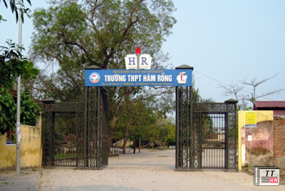 Trường THPT Hàm Rồng, TP Thanh Hóa, một trong những trường có nhiều thí sinh bị phát hiện đánh dấu bài. Ảnh: Lê Hoàng.