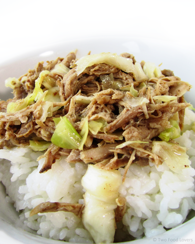 Slow Cooker Kalua Pig by twofoodlovers.com