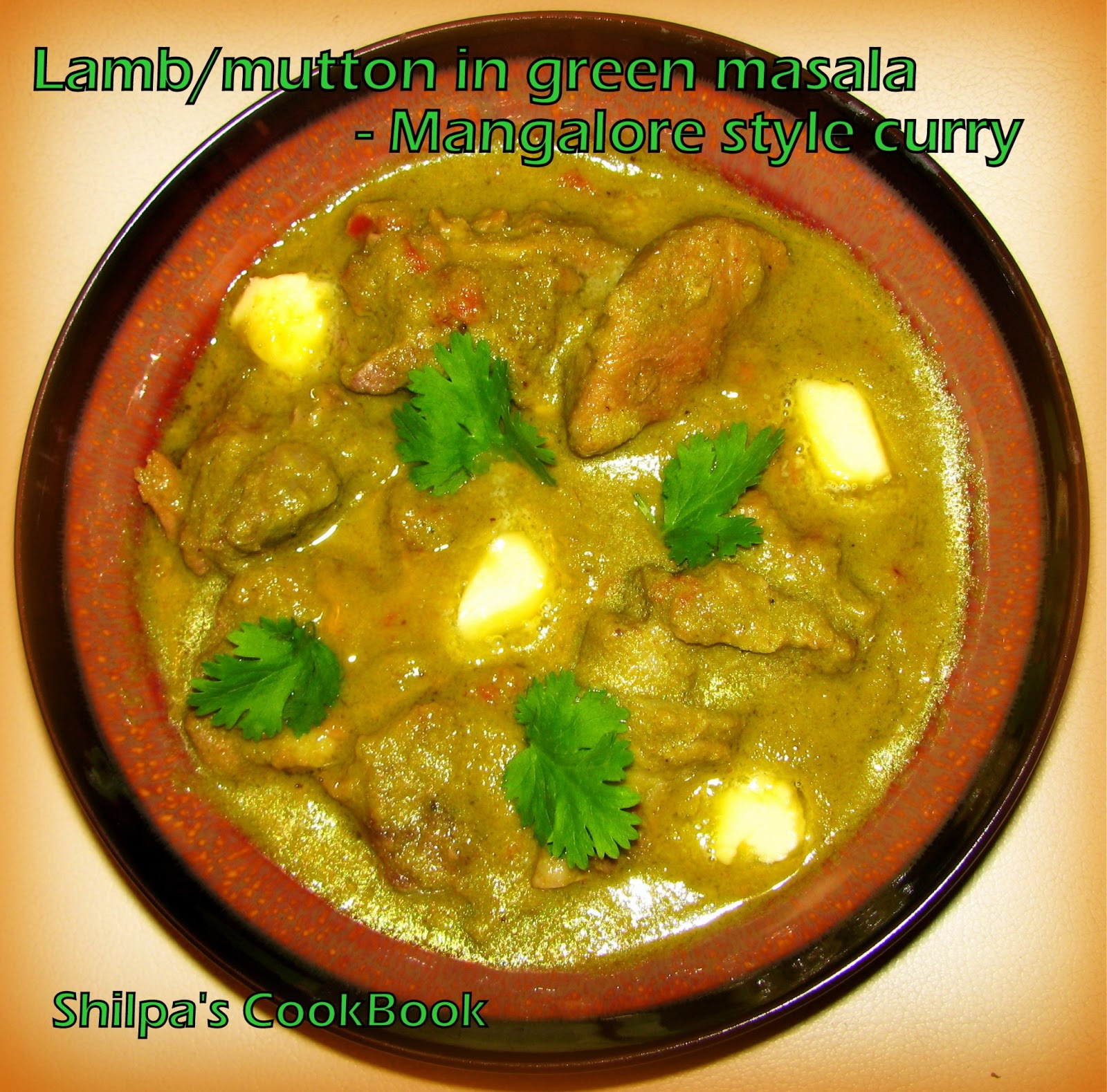 Cook Book: Mutton in Green masala - Mangalore style curry