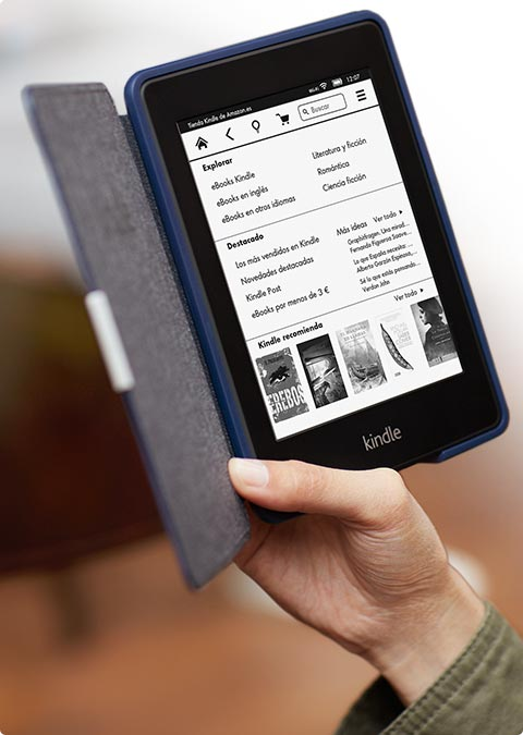 kindle paperwhite con funda