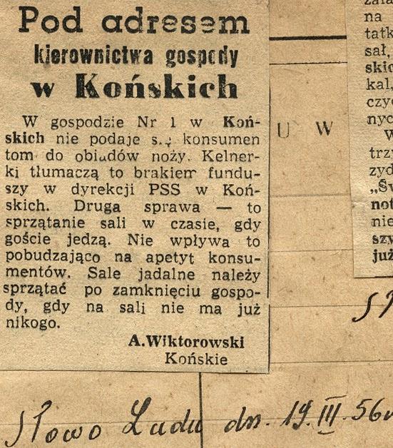 Wycinki prasowe: Dlaczego, Słowo Ludu z 1954, 1955 i 1956 r. W zbiorach KW.