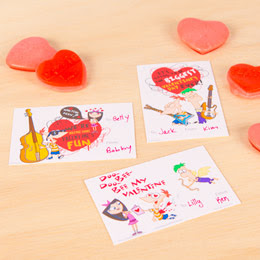 Free Phineas and Ferb Valentines