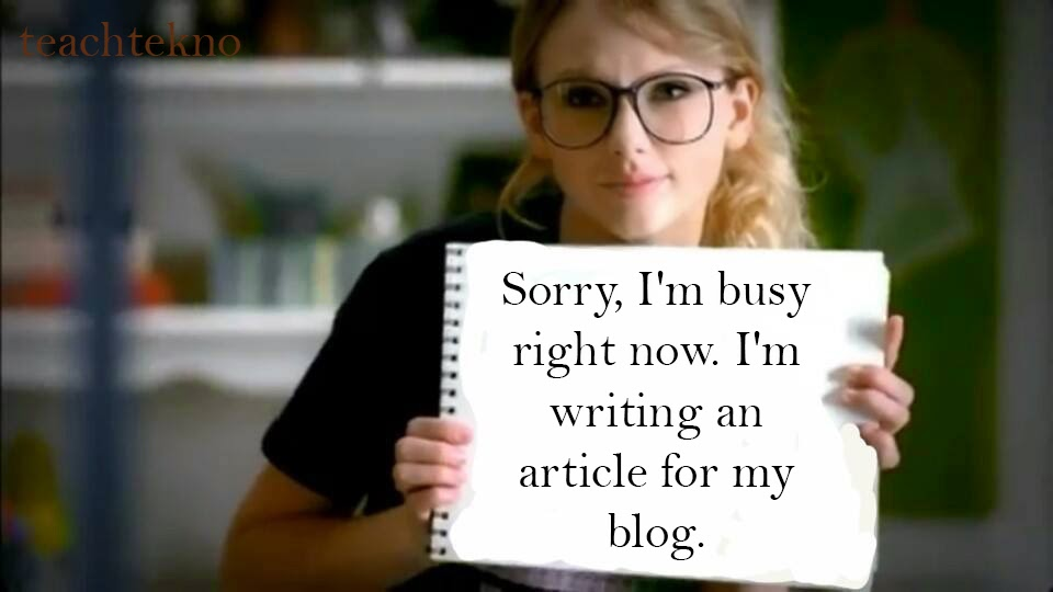 taylor swift write an article for her blog