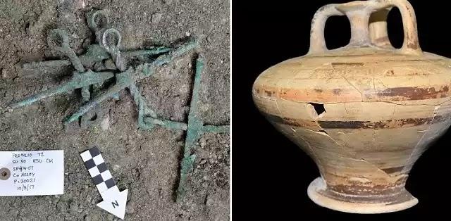 Βρέθηκε μνημειώδης μυκηναϊκός τάφος στον Ορχομενό -Με πολεμιστή, όπλα και κοσμήματα