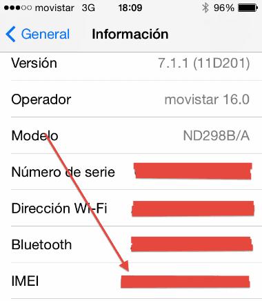 obtener codigo imei en iphone 4 y 5