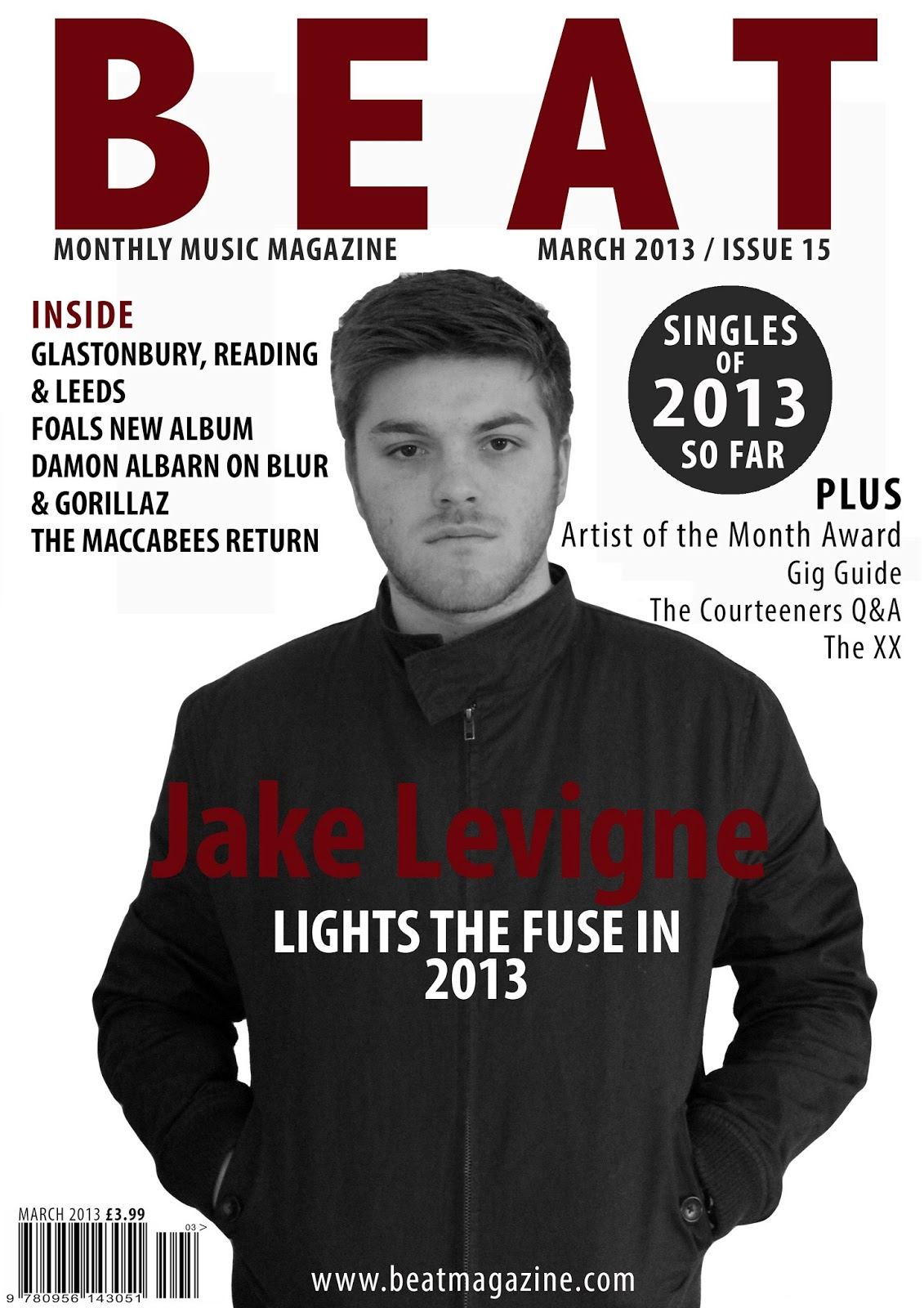 HW  Guide     Textual Analysis of Music Magazine cover   AS Media     Music Magazine Annotation