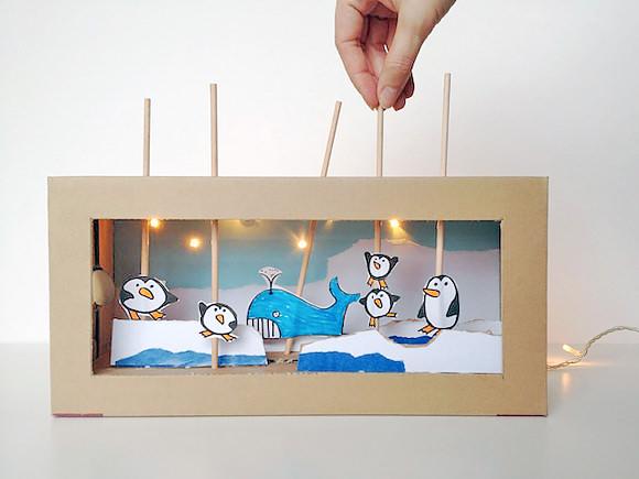 Teatro de títeres de cartón