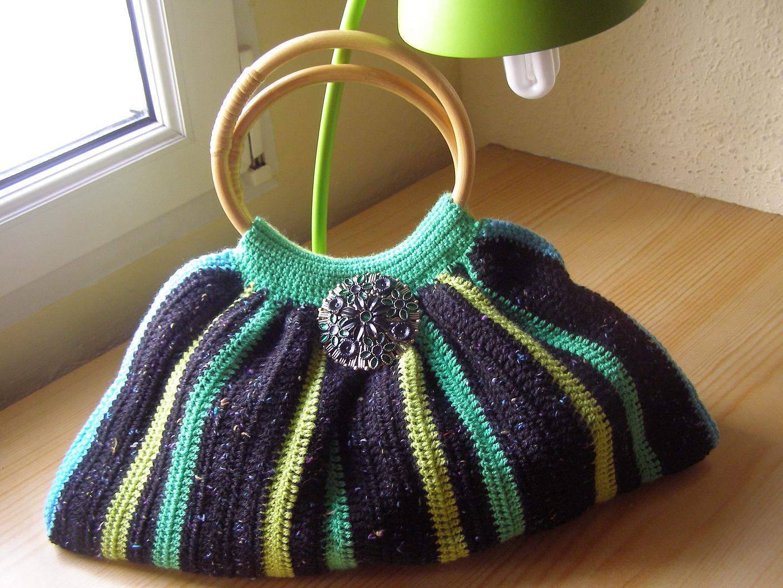 A Punto de Red . Patrones: Bolso a crochet en algodón. Intercambio ...