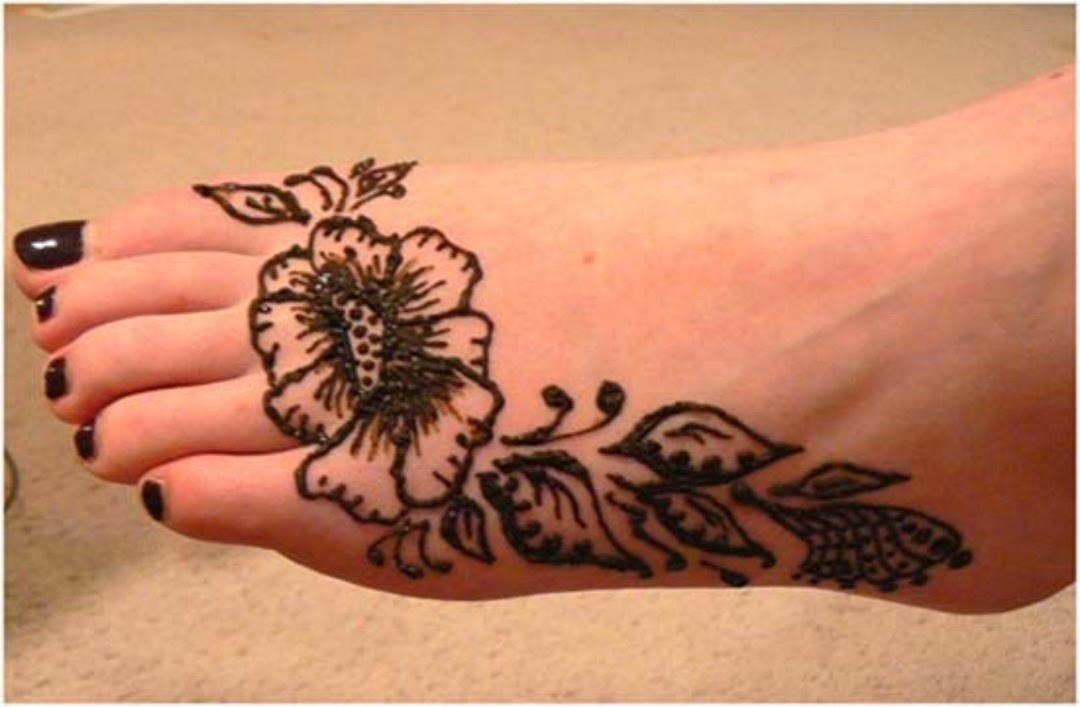 Mehndi On Leg : Mehndi page top easy and simple design pakisthan