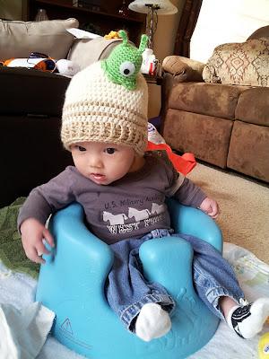 Futurama brain slug baby hat