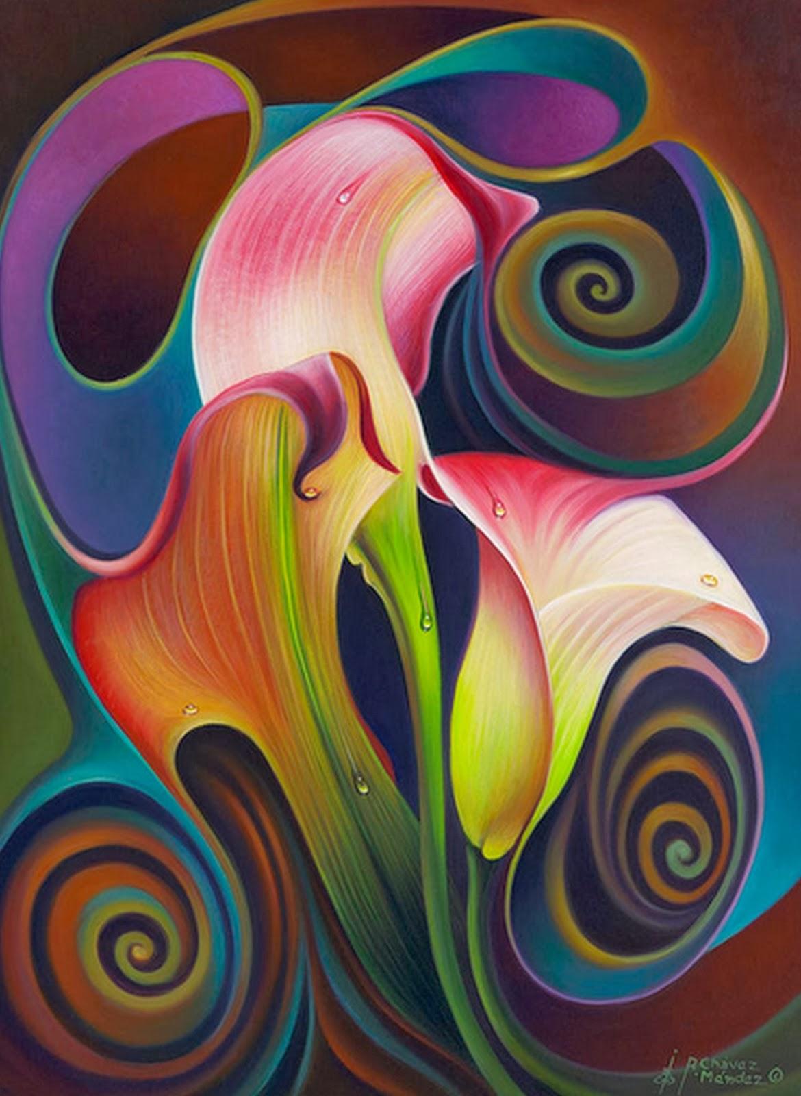 Cuadros pinturas oleos abstractos modernos pinturas de for Cuadros al oleo modernos para comedor