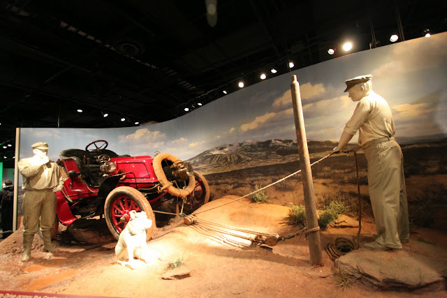 H Nelson Jackson, the first to drive across the coasts from California to New York in 1903 through mud, breakdowns and a lack of roads and bridges at Museum of American History in Washington DC, USA