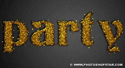 Glittering Gold Party Text  Effect