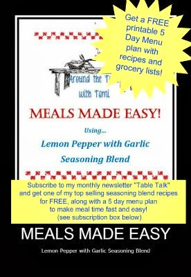 FREE PRINTABLE MEAL PLAN!