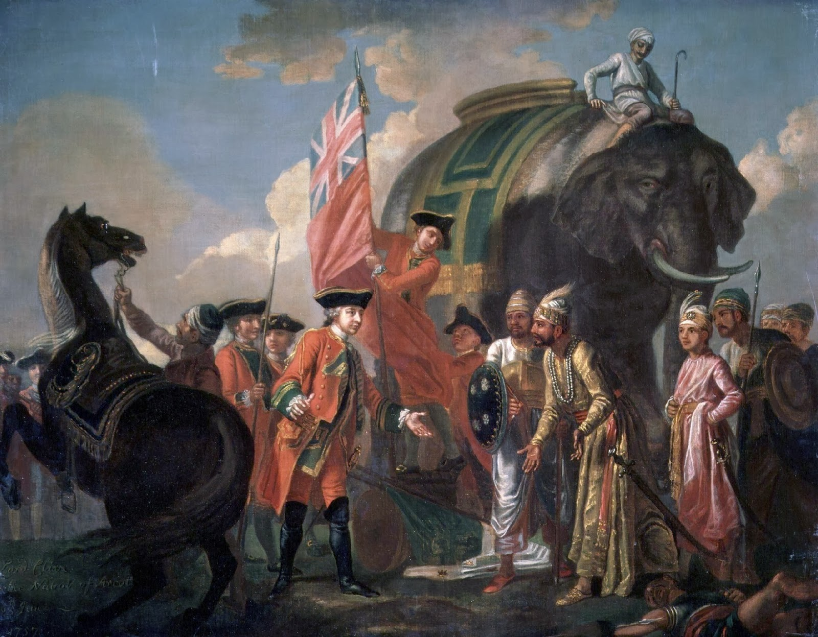 NPG title: Robert Clive and Mir Jafar after the Battle of Plassey, 1757