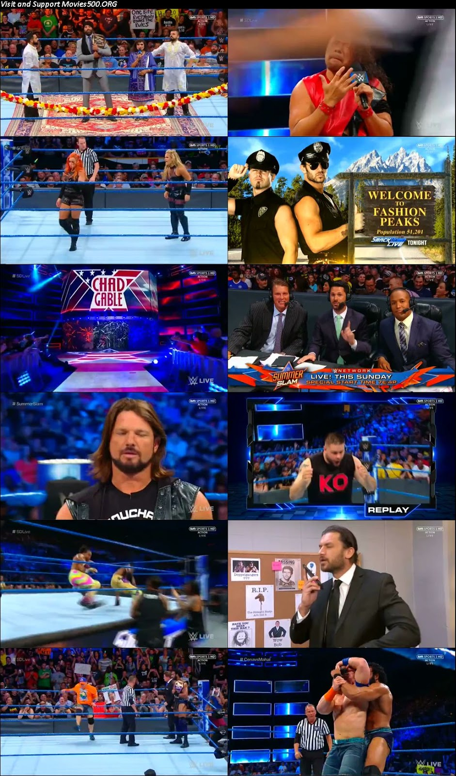 WWE Smackdown Live 15 Aug 2017 HDTV Full Show Download 720p at softwaresonly.com