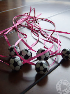 Clay Soccer ball Necklaces