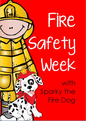 Fire Safety Week with Sparky the Fire Dog  Printables for Grades