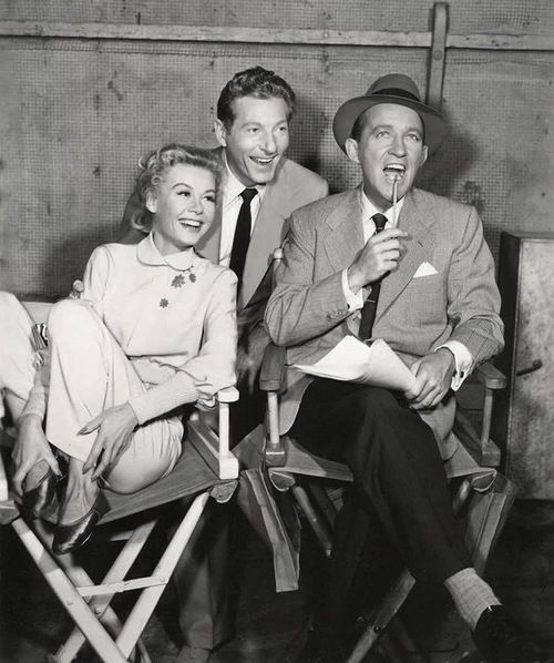 vera ellen kaye and crosby on the set - Danny Kaye White Christmas
