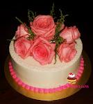 Cake Hantaran fresh flower