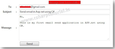 Asp.net Web App to send Email using c#.net