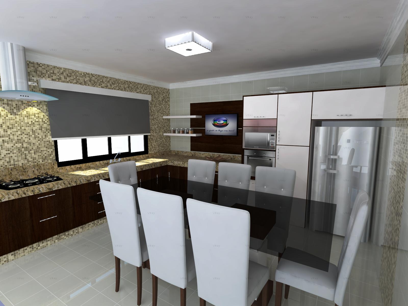 Em 3d Para Cozinha Desenhe Uma Ilha Numa Cozinha No Kdmax Software