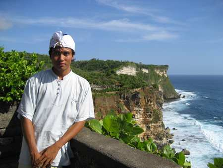 Beaches in Bali with a beautiful cliff