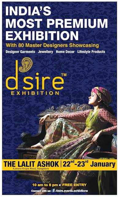 India's most Premium exhibition with 80 Master designers show casing @Bangalore