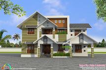 Sloped Roof Modern House Plans