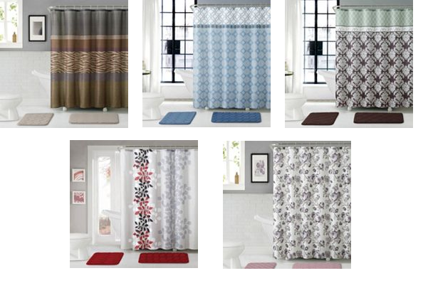 Fancy Kohls has Piece Victoria Classics Shower Curtain with Bath Mats various styles on sale for off with promo code CYBER ud