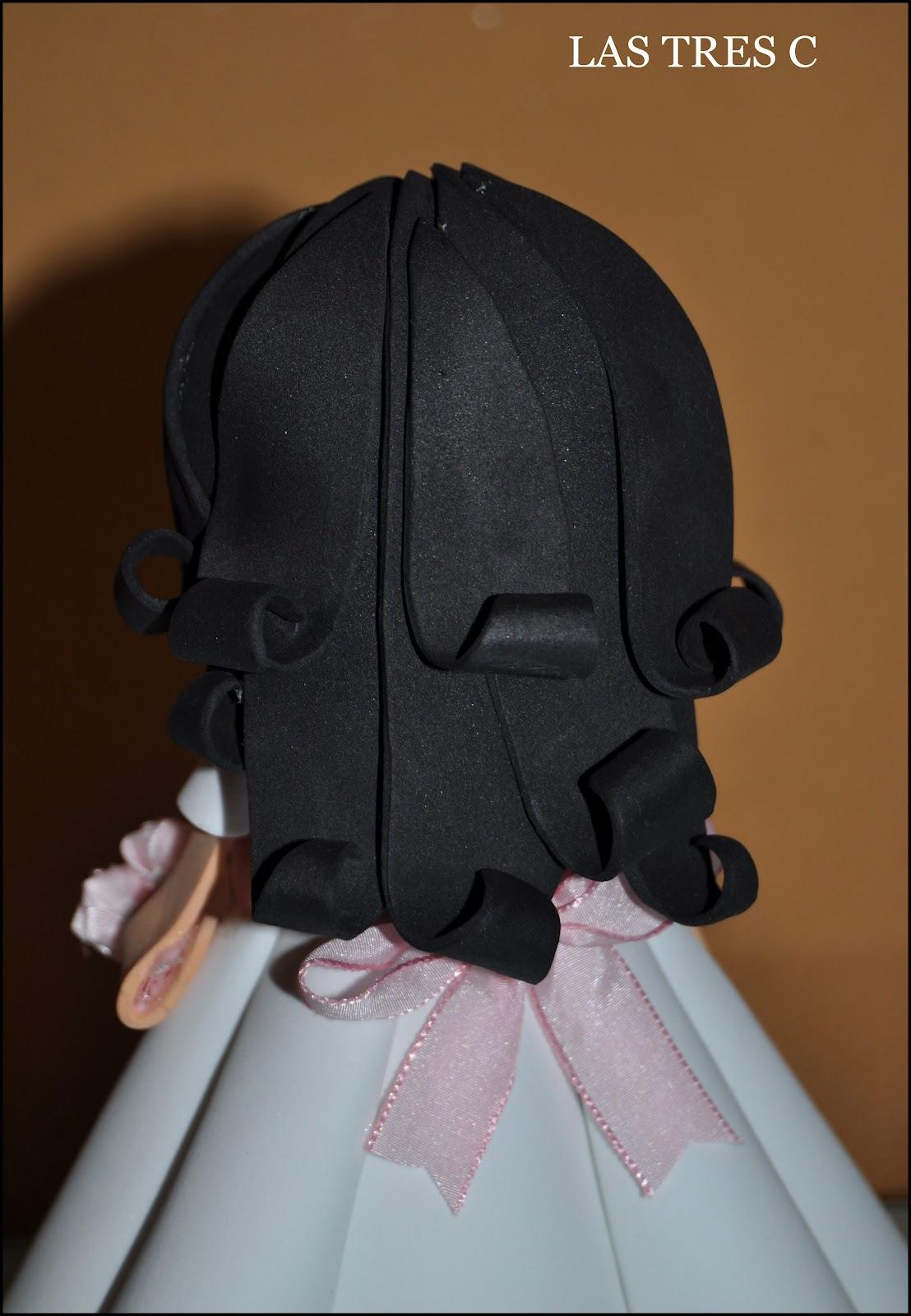 Muñeca de comunión pero en moreno, espero que os guste.