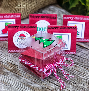 SRM Stickers Blog - Christmas Gift Tags by Corri - #christmas #gift tags #twine #sticker stitches #stickers #clear box #gift