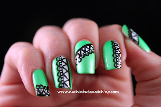 barry m neon yellow green nail art pens