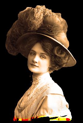 imagen png de dama victoriana vintage