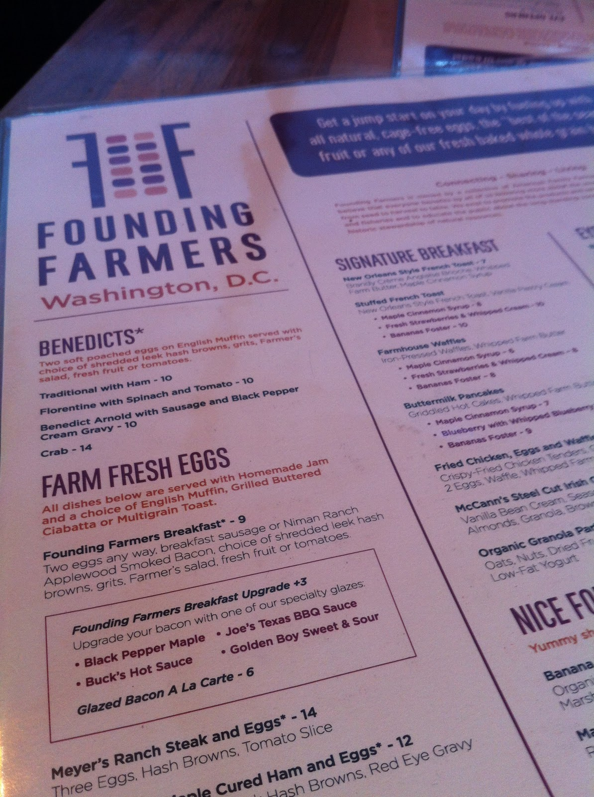 Founding Farmers Dc Reservations In Washington Dc   Lobster House