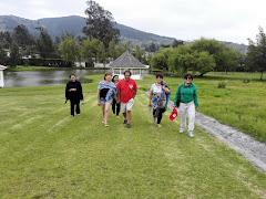 Comité Coordinador del CREE en campamento Nueva Vida