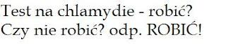 test na chlamydie - pytanie