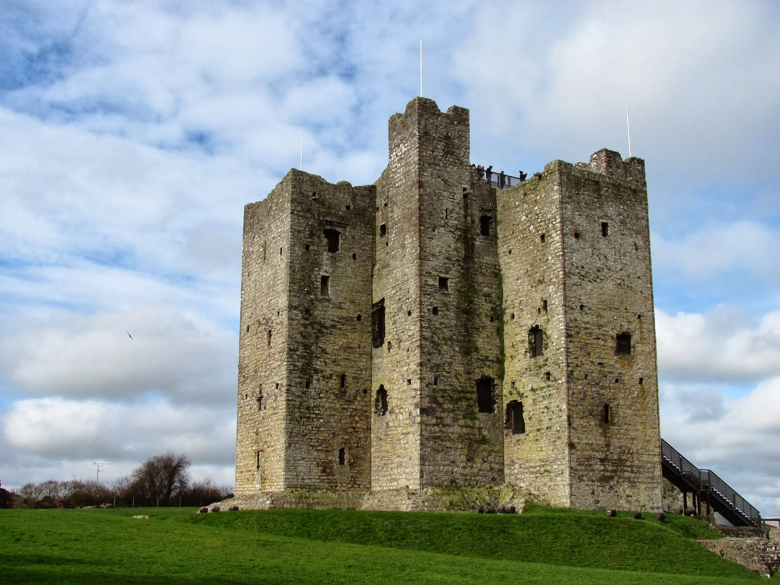The keep of Trim Castle in Trim, Ireland