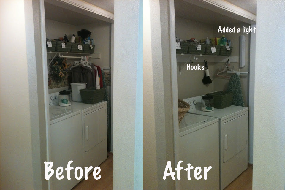 Beautiful Laundry Closet Redo