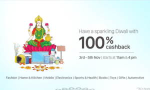 PayTm 100% Cashback Flash Sale