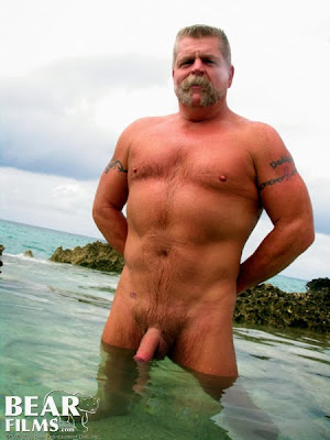 hairy bear dad - muscle daddy - outdoor daddy muscle