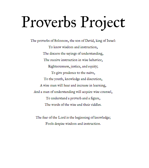 "proverb essays Essays on the proverb (1981), and his spirit and knowledge are present not only in those vol- ""the proof of the proverb is in the probing."