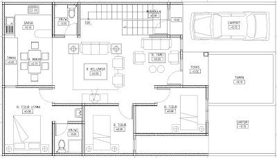 Denah Rumah Mewah Minimalis