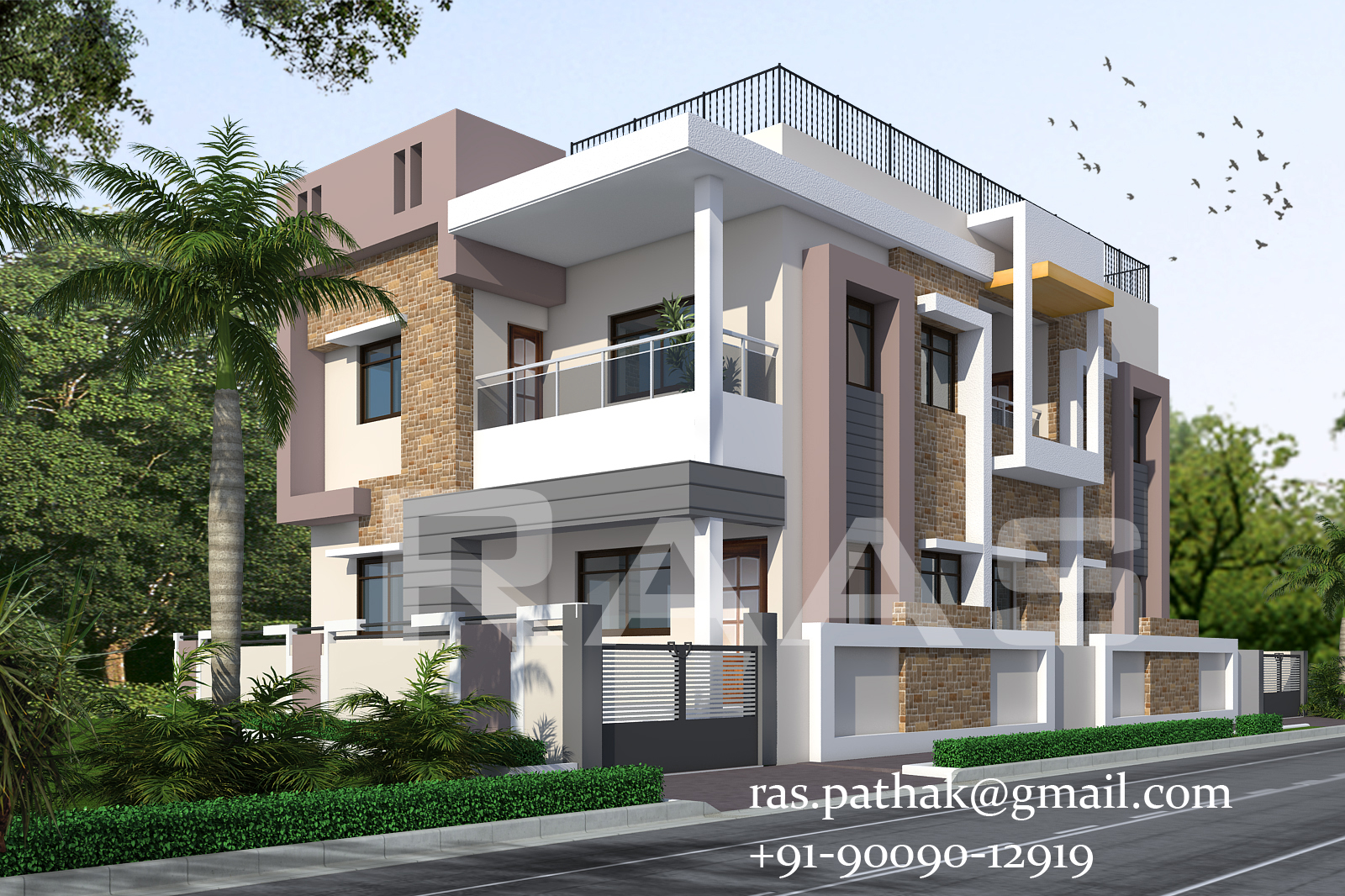 3d architectural rendering service in india for Exterior 3d rendering