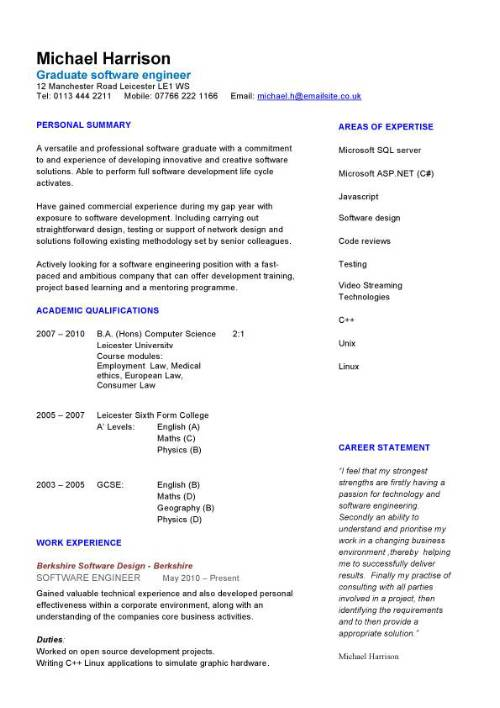 Sample Resume for Junior Technical Writer