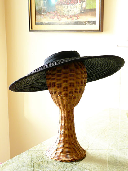 vintage black hat by Lady by Choice